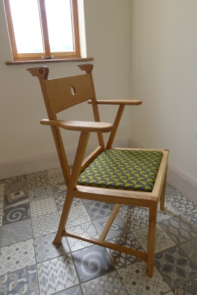bespoke welsh oak dining chair