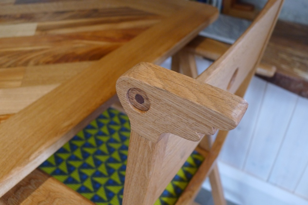 bespoke oak chair